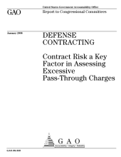 Defense Contracting: Contract Risk a Key Factor in Assessing Excessive Pass-Through Charges