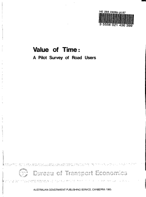 Value of Time PDF