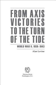 From Axis Victories to the Turn of the Tide PDF
