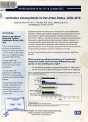 Hypertension Among Adults in the United States, 2009-2010