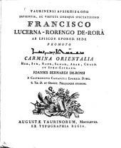 Carmina orientalia Heb. Syr. Rabb., Samar, Arab., Chald. et Syro-Estrang