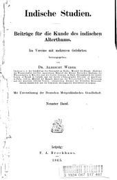 Indische studien: Beiträge für die kunde des indischen alterthums, Band 9