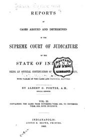 Reports of Cases Argued and Determined in the Supreme Court of Judicature of the State of Indiana: Volume 3