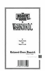 Insider's Guide to Metro Washington, DC