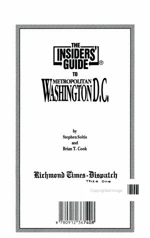 Insider s Guide to Metro Washington  DC