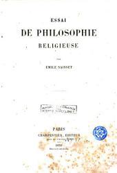 Essai de philosophie religieuse