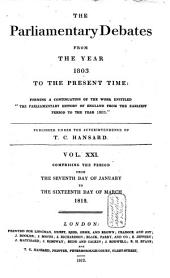 The Parliamentary Debates from the Year 1803 to the Present Time: Volume 22