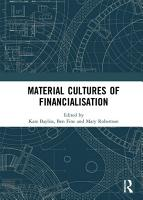 Material Cultures of Financialisation PDF