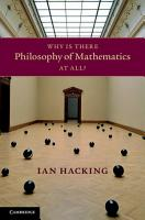 Why Is There Philosophy of Mathematics At All  PDF