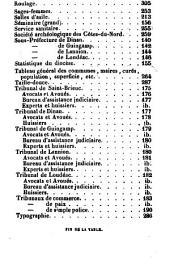Annuaire des Côtes-du-Nord: Volume4