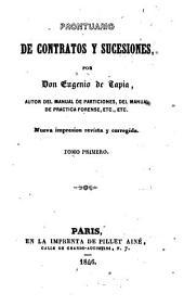 Prontuario de contratos y sucesiones: Volumen 1