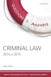 Criminal Law 2014 And 2015 Book PDF