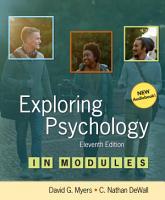 Loose leaf Version for Exploring Psychology in Modules PDF