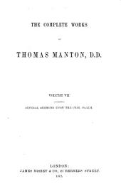 The Complete Works of Thomas Manton, D.D.: With a Memoir of the Author, Volume 7