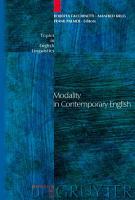 Modality in Contemporary English PDF