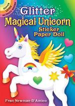 Glitter Magical Unicorn Sticker Paper Doll