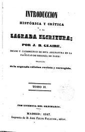 Introducción histórica y crítica a la Sagrada Escritura