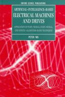 Artificial Intelligence based Electrical Machines and Drives PDF