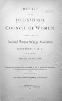 Report of the International Council of Women PDF