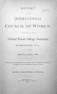 Report of the International Council of Women