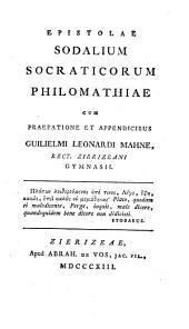 Epistolae sodalium Socraticorum philomathiae