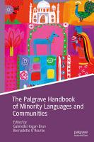 The Palgrave Handbook of Minority Languages and Communities PDF