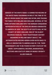 Genesis of the White Family PDF