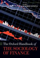 The Oxford Handbook of the Sociology of Finance PDF
