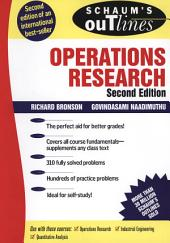 Schaum's Outline of Operations Research: Edition 2