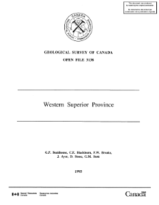 Geological Survey of Canada  Open File 3138 PDF
