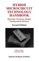 Hybrid Microcircuit Technology Handbook  2nd Edition PDF