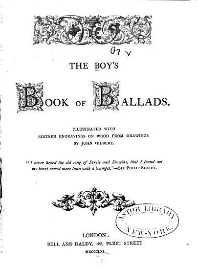 The Boy s Book of Ballads PDF