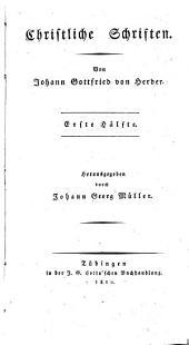 Johann Gottfried von Herder's sämmtliche Werke: Zur Religion und Theologie. Eilfter Theil, Band 11