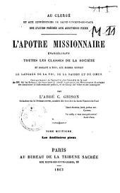 L'apôtre missionnaire évangélisant toutes les classes de la société et parlant à tous ... le langage de la foi, de la raison et du coeur