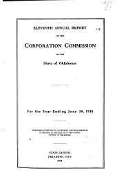Annual Report of the Corporation Commission of the State of Oklahoma for the Year ...: Volume 11