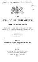 The Laws of British Guiana PDF