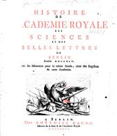 Mémoires de l'Académie des sciences de Berlin: Volume 1