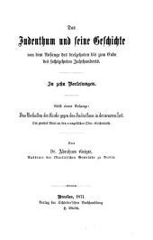 Das Judenthum und seine Geschichte: Band 3