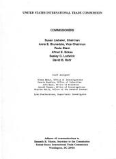 Certain Forged Steel Crankshafts from Brazil, the Federal Republic of Germany, Japan, and the United Kingdom: Determination of the Commission in Investigation No. 701-TA-282 (preliminary) Under the Tariff Act of 1930, Together with the Information Obtained in the Investigation : Determinations of the Commission in Investigations No. 731-TA-351 Through 353 (preliminary) Under the Tariff Act of 1930, Together with the Information Obtained in the Investigations