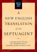 A New English Translation of the Septuagint PDF