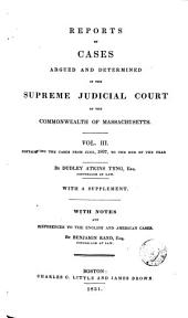 Reports of Cases Argued and Determined in the Supreme Judicial Court of the Commonwealth of Massachusetts: 1807