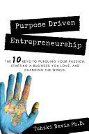 Purpose Driven Entrepreneurship
