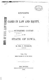 Reports of Cases at Law and in Equity Determined by the Supreme Court of the State of Iowa: Volume 15