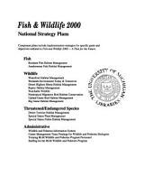 Resident fish habitat management