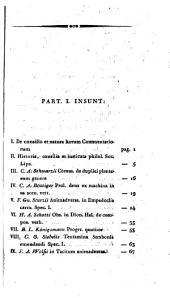 Commentarii ...: Volumes 1-2