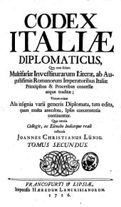 Codex Italiae diplomaticus: Volume 2