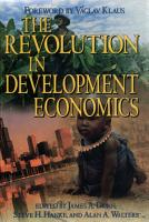 The Revolution in Development Economics PDF
