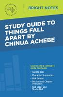Study Guide to Things Fall Apart by Chinua Achebe PDF