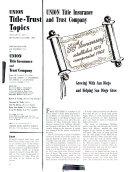 Union Title-trust Topics