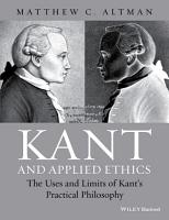 Kant and Applied Ethics PDF